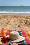 En la playa Foto de archivo