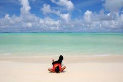 En la playa Fotos de archivo libres de regalías