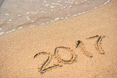 2017 en la playa 2 Fotos de archivo