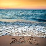 2019 en la playa fotografía de archivo