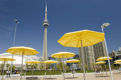 En la playa artificial en Toronto Canadá Imagen de archivo