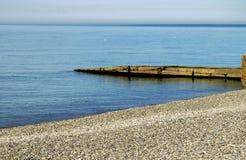 En la playa azul clara Fotos de archivo