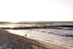 En la playa de Ahrenshoop Imágenes de archivo libres de regalías