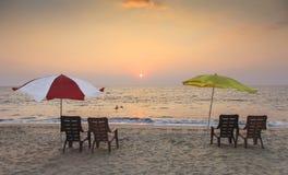 En la playa de Kerala Imagenes de archivo