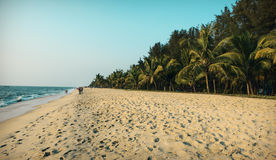 En la playa de Kerala Fotografía de archivo