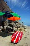 En la playa de Malibu, California Imagen de archivo