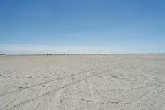 En la playa de St Peter-Ording en Alemania foto de archivo