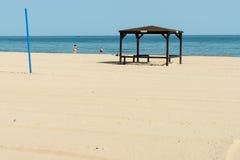 En la playa de Sunny Beach en Bulgaria Imagenes de archivo