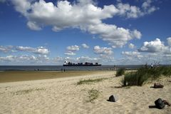 En la playa del Mar del Norte Fotografía de archivo libre de regalías