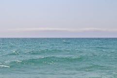 En la playa en el ` Estrac de Caldes d, España Imagen de archivo