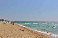En la playa en el ` Estrac de Caldes d, España Fotografía de archivo libre de regalías