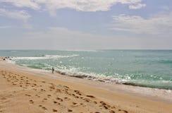 En la playa en el ` Estrac de Caldes d, España Fotos de archivo libres de regalías