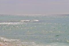 En la playa en el ` Estrac de Caldes d, España Imagen de archivo libre de regalías
