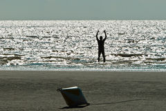 En la playa en Ording Fotografía de archivo