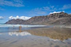 En la playa, Lanzarote Fotos de archivo