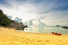 En la playa tropical fotografía de archivo