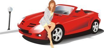 En la presentación del coche libre illustration