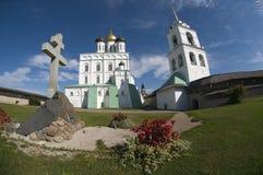 En la Pskov Kremlin Fotos de archivo libres de regalías