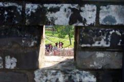 En la puerta de la ciudad antigua Foto de archivo
