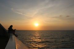 En la puesta del sol Fotografía de archivo