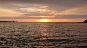 En la puesta del sol Imagen de archivo