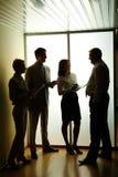En la reunión Imagen de archivo