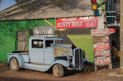 En la ruta 66, Arizona, los E.E.U.U. Foto de archivo