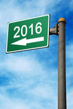 En la señal de tráfico 2016 Fotografía de archivo