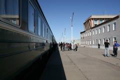 En la sombra del transiberiano exprese, Mongolia imagen de archivo libre de regalías