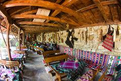 En la taberna rural búlgara Fotos de archivo libres de regalías
