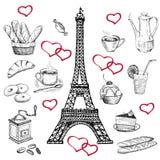 En la torre Eiffel libre illustration