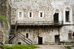 En la yarda del castillo de Khotyn Fotos de archivo
