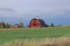 En ladugård i lantliga Minnesota Fotografering för Bildbyråer