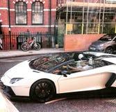 En Lamborghini Aventador i London arkivfoto