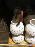 En lampa av keramik Arkivbilder