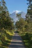 En landsväg som leder till monteringen royaltyfri bild