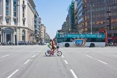 En las calles de Barcelona foto de archivo libre de regalías