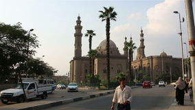 En las calles de El Cairo Egipt almacen de metraje de vídeo