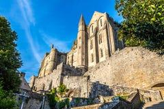 En las calles en Mont Saint-Michele Fotografía de archivo libre de regalías