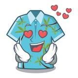 En las camisas hawaianas del amor dobladas en armario de la historieta libre illustration