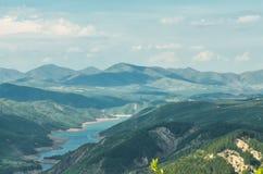 En las montañas en Albania Imagen de archivo