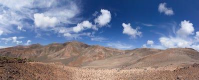 En las montañas de Ajaches en Lanzarote Imagen de archivo libre de regalías