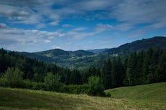 En las montañas de Beskidy Imagen de archivo libre de regalías