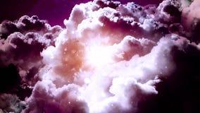 En a las nubes oscuras ilustración del vector