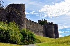 En las paredes del castillo Imagen de archivo