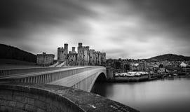 En las paredes del castillo Fotos de archivo
