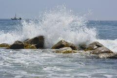 En las rocas Fotografía de archivo