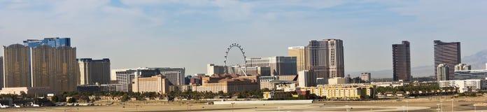 En Las Vegas remsa beskådar från McCarran royaltyfria foton