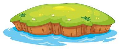 En lawn och ett vatten vektor illustrationer