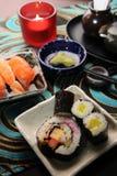 Japanska matSushi Fotografering för Bildbyråer